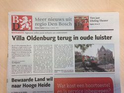 Villa Oldenburg in het Brabants Dagblad